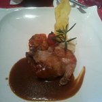 The Main Course - Chicken with red wine souce