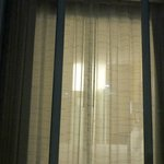 Rm 101: View of bedroom w/ curtains drawn from outside