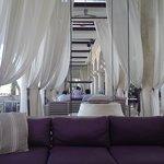 pool bar and lounge area