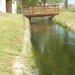 Foot bridge over canal