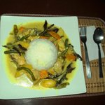 Chicken Thai Curry with rice