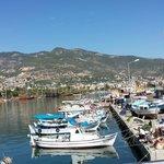 Vue sur le port d'Alanya