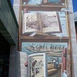 Fresque de la bibliothèque, St-Romuald