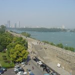 Ancien walls of Nanjing and view over the Xuanwu Lake
