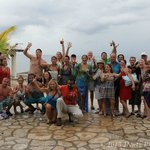 The group from our crawl at Negril Escape