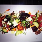 Heirloom pickled beet salad/ feta cheese/ caramelized nuts/ local Riesling vinaigrette