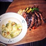 My Friends delicious Steak and brussell sprout dinner
