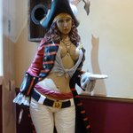 Pirate Lady in Restaurant