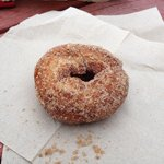 cider donut from Fir Point Farms Aurora OR