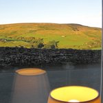 Wondeful view from the dining room. Keld Lodge.