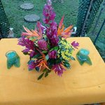 wedding arrangement done by one of the owners
