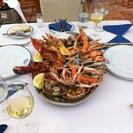 The mixed sea food platter @€48 for two a great value