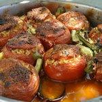 One of the tastier Greek recipies: Stuffed Tomatoes!