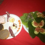 appetizers all from foods made at the farm