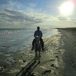 sunet on the beach