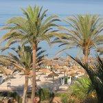 Strand vom Hotel aus gesehen