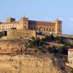 Ansicht der Burg/ des Hotels