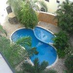 Esta es la alberca del hotel Gran Real Yucatan...