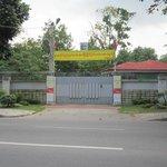 Utanför Aung San Suu Kyi bostad i Rangoon