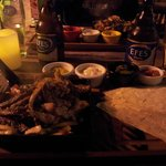 combo fajitas (chicken and beef)