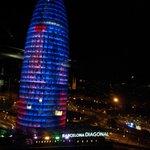 Vista nocturna torre Agbar