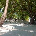 Пляж перед улучшенным бунгало