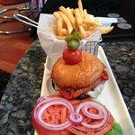 Potobello Mushroom Burger with Fries