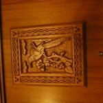 Wood carving on door to our room.  Example of the beauty and detail of the hotel