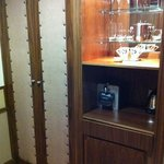 Wardrobe, coffee machine and minibar