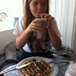 Chocolate Waffle and milkshake, yum !