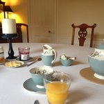 Lovely dining table ready for breakfast