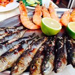 Fresh Seafood at Bar El Cine, a definite must visit if you are in Los Christianos