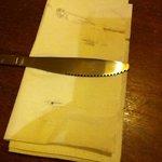 dirty cutlery