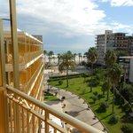 Room 505, from balcony looking towards the sea