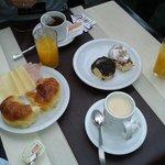 El desayuno bufete