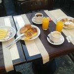 Nuestro desayuno.