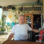 Jolli Mon patio - bar in background doorway