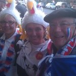 French fans at Rugby World Cup 2011