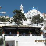 Kallisti restaurant w/monastery above