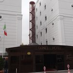 Outside of the Gunes Hotel in Istanbul