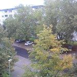 Vista frontal desde el edificio