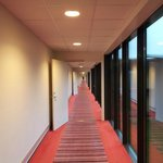 Imponerende 150 meter lang hovedkorridor
