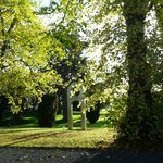 Blick aus dem Linden Tree während des Frühstücks