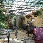 patio off the lobby/breakfast area