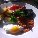 The excellent full english breakfast