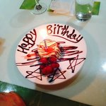 a birthday supprise for my husband frim staff at the golden well