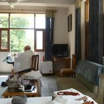 Room 208 - spacious and sunny w/ beautiful views to river Ganges