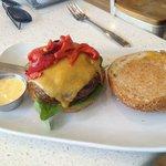 Sample single burger.