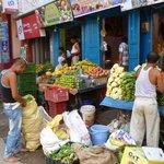 street markets after crossing Ram Jhula
