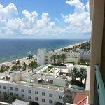 Vista apartamento de frente pro mar